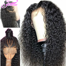 Water Wave 13x4 Lace Front Human Hair Wigs For Black Women Ple Plucked 150% Density Remy Brazilian