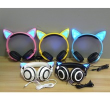 Foldable Flashing Glowing Cat Ear Headphones