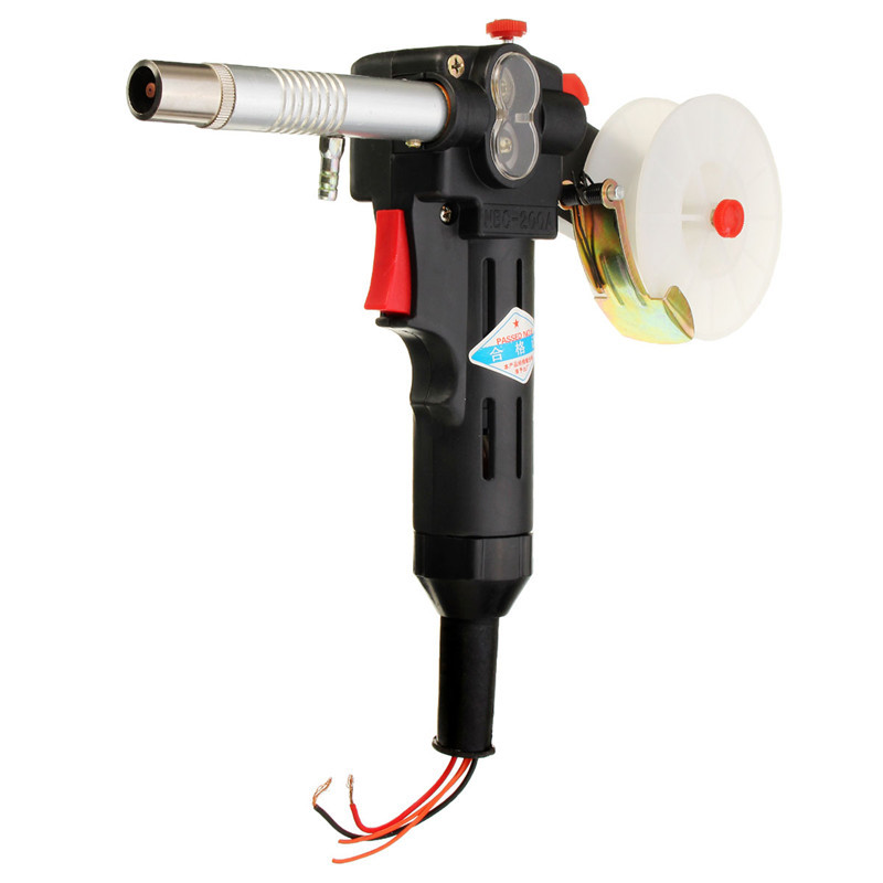 180A MIG Spool Push Pull Feeder Aluminum Copper Welding Torch Stainless Steel DC 24V Motor without Cable DIY