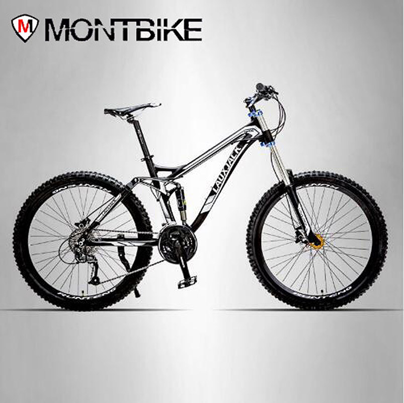 LAUXJACK Bicycle Aluminum Alloy Soft-Trailer 24/27 Rapidly Down Mountain Bike Dual Oil Disk Bike Shock Absorber lauxjack mountain fat bike full