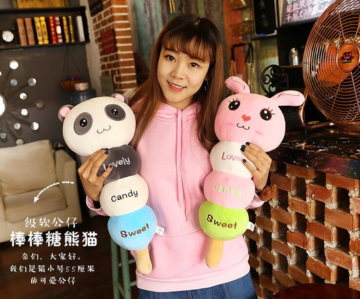 Candice guo plush toy stuffed doll cartoon lovely candy sweet animal monkey rabbit  panda elephant pig bear pillow baby gift 1pc  fancytrader seal plush baby doll large stuffed cartoon animal arctic seal toy white bear kids gift pillow 39inches 100cm