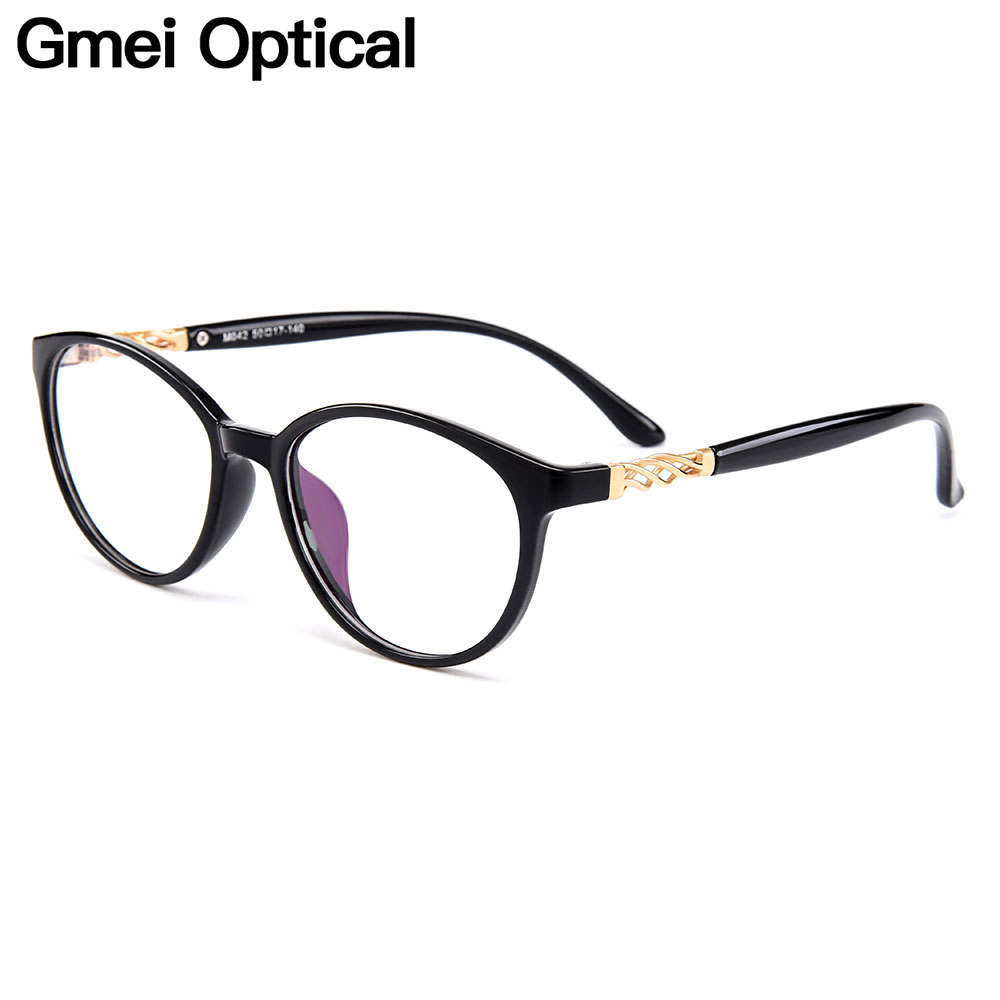Gmei Optical Oval Ultralight TR90 Eyewear Full Rim Women Optical Glasses Frames For Women Myopia Presbyopia Spectacles M042