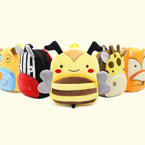 Children Mini School Bags for Baby Boys Girls Cartoon Cute Animal Schoolbag Kindergarten Kids Soft Plush Backpack Infant Mochila