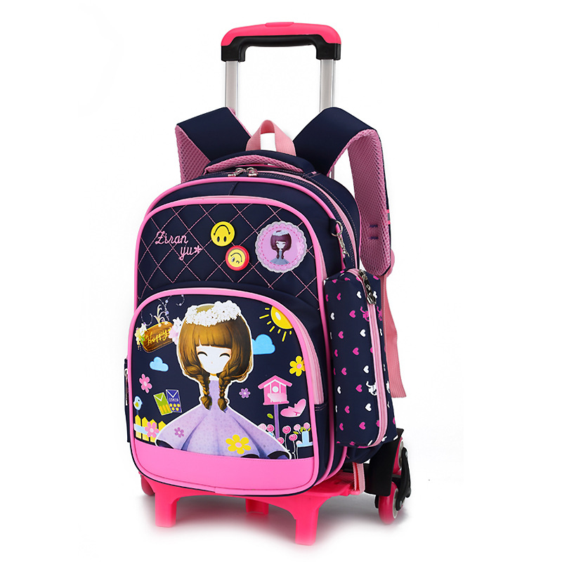 Removable Children Trolley scholbag 6 Wheels bags Princess backpack Girls Children School Bag Trolley school Backpack kids GirlsRemovable Children Trolley scholbag 6 Wheels bags Princess backpack Girls Children School Bag Trolley school Backpack kids Girls