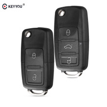 381d9aac80fc KEYYOU For VW Golf 4 5 Passat B5 B6 Polo Touran For Seat For Skoda Key 2 3  Buttons Flip Key Shell Car Key Fob Without Blade