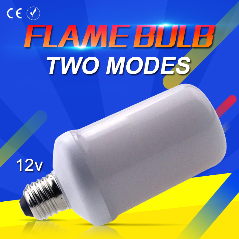 LED Flame Lamp E27 led 12V E14 2835SMD E26 LED Candle Energy saving Corn lights led Flame Effect Bulb Two Modes Decorative lamp hot halloween home decoration 5w 2835 smd 99 led lamp bulb e27 flame flickering breathing general modes led lights bulb 110 240v