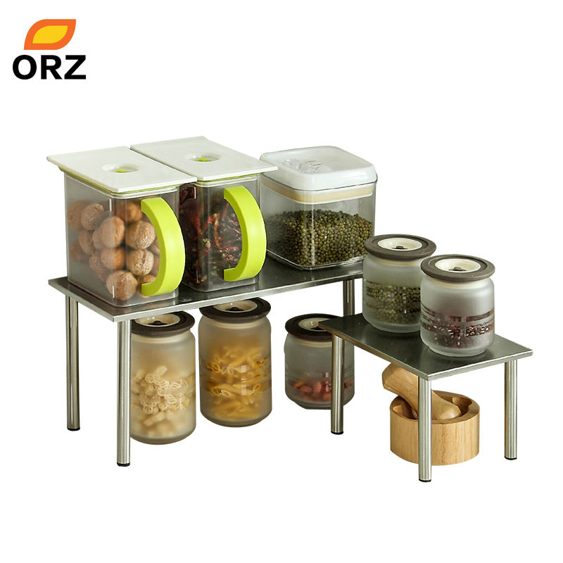 ORZ Kitchen Rack Superposition <font><b>Shelf</b></font> Stainless Steel Kitchen Holder Storage Organizer Bathroom Shelves