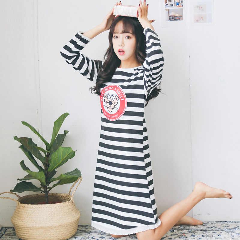 af66cb832b ... Yidanna new women s sleepwear hat cotton nightgowns sleepshirts in  autumn long sleeve lounge for girl onesies ...