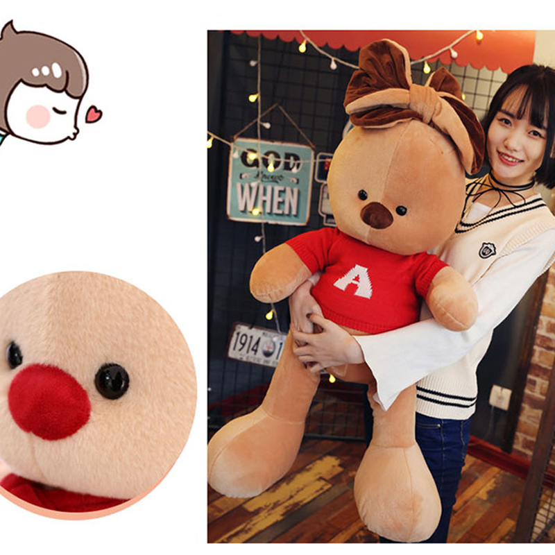 Fancytrader большие мягкие длинные уши Игрушки для собак гигантские Мягкие плюшевые Животные щенок кукла носить рубашку Best подарки для детей