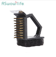 Barbecue Cleaning Brush Outdoor Tool Wire Multi-function Kitchen Oil For Supplies