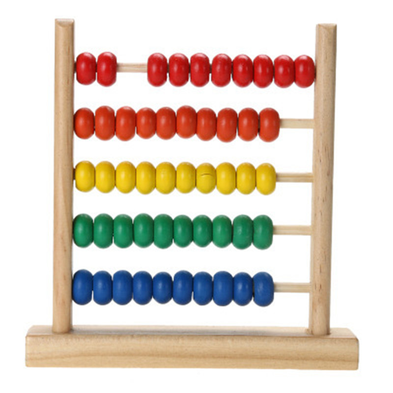 Math Toy Wooden Abacus Counting Calculating Beads Montessori Learning Early Educational Colorful Numbers Game Toy For Kids Baby