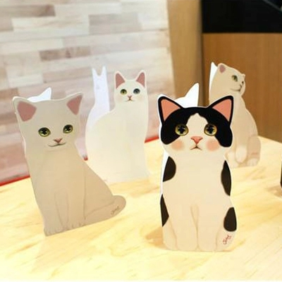 12pcs / Lot Korea. Jetoy Cute Cat Choo Christmas Card Three - Dimensional Blessing Card _ With The Envelope