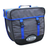 B SOUL Bicycle Bag 20L Waterproof Saddlebags Rear Rack Single sided Bicycle Bags Trunk Seat Pannier Bag with Rain Cover blue