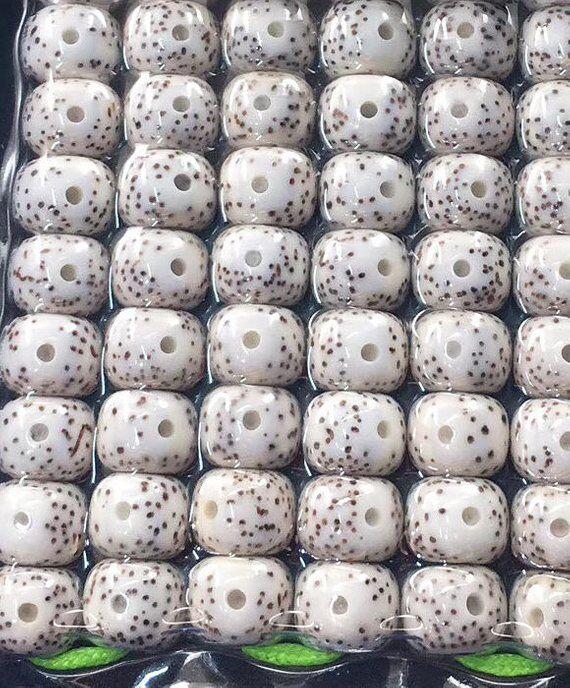 9X7mm * 114 * naturel Hainan Grade AAA haute qualité Lotus Bodhi graines perles Barre lâche Mala perles accessoires de bricolage Japa