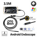 2MP 8mm 3.5M Android OTG USB Endoscope Camera Flexible Snake USB Android Phone Waterproof Inspection Borescope Camera HD720P
