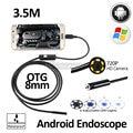 2-МЕГАПИКСЕЛЬНАЯ 8 мм 3.5 М для Android OTG USB Камеры Эндоскопа Гибкая Змея USB Android Телефон Водонепроницаемый Инспекции Бороскоп Камера HD720P