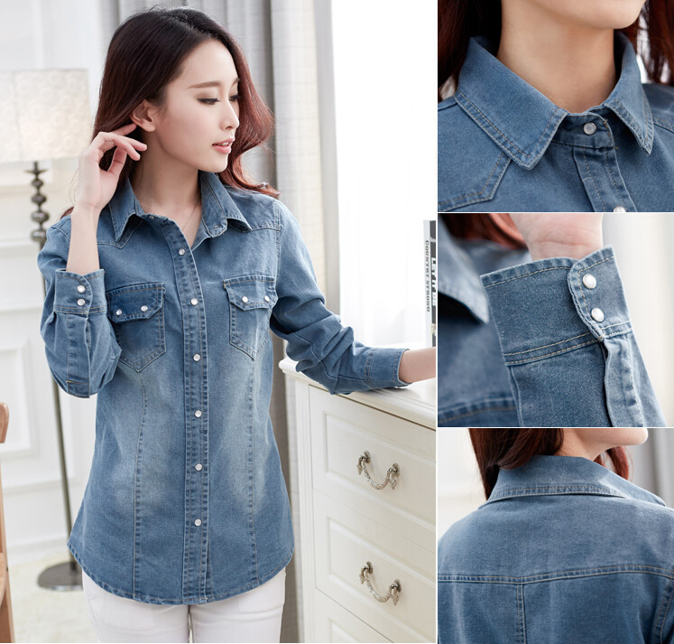 Aliexpress.com : Buy Teen girls 2015 spring new long sleeved denim ...