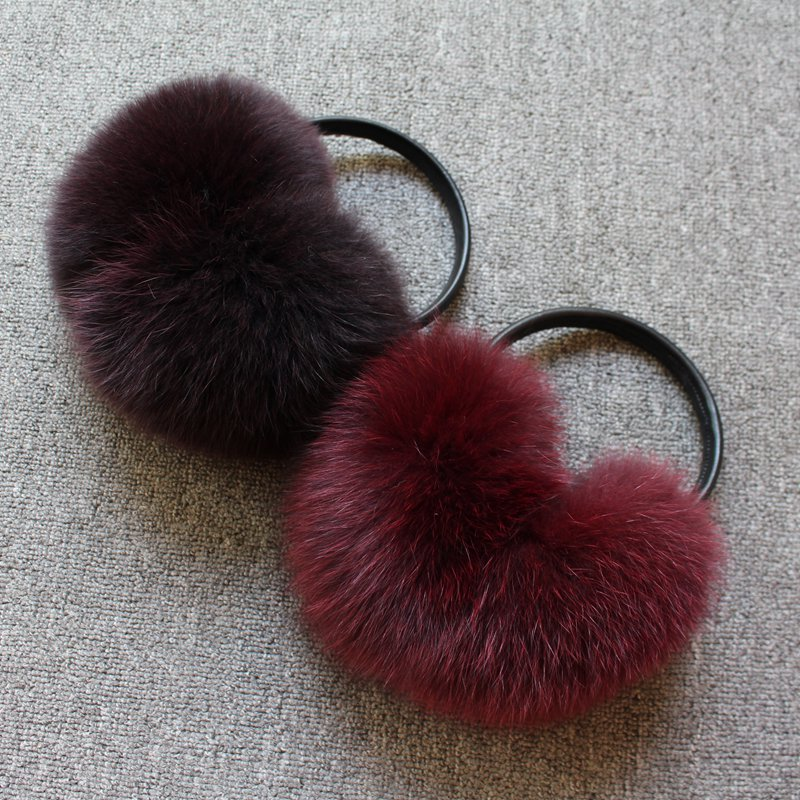 2018 New Arrival Fashion Women Winter Ear Protector Covers For Women Real Fox Fur Muffs Gilr Genuine Fox Fur Headphones Earphone