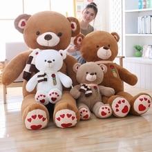 80/100 Cm Big Size Soft Teddy Bear Plush Toys Stuffed Plush Animals Soft Bear Cushion Toy For Kids Dolls Children Gifts стоимость