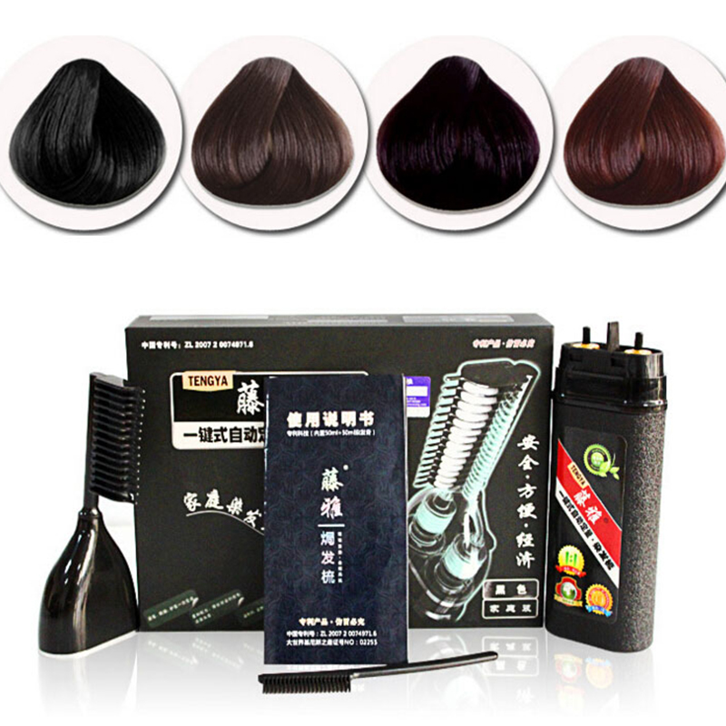 Magical hair comb 1 set  hair dye  New Fashion Hot Fast hair coloring Professional Salon Hair Dye Colors 4 Colors choose RP1-5 high quality hair color one time molding paste seven colors available grandma gray green japanese hair dye wax wp65