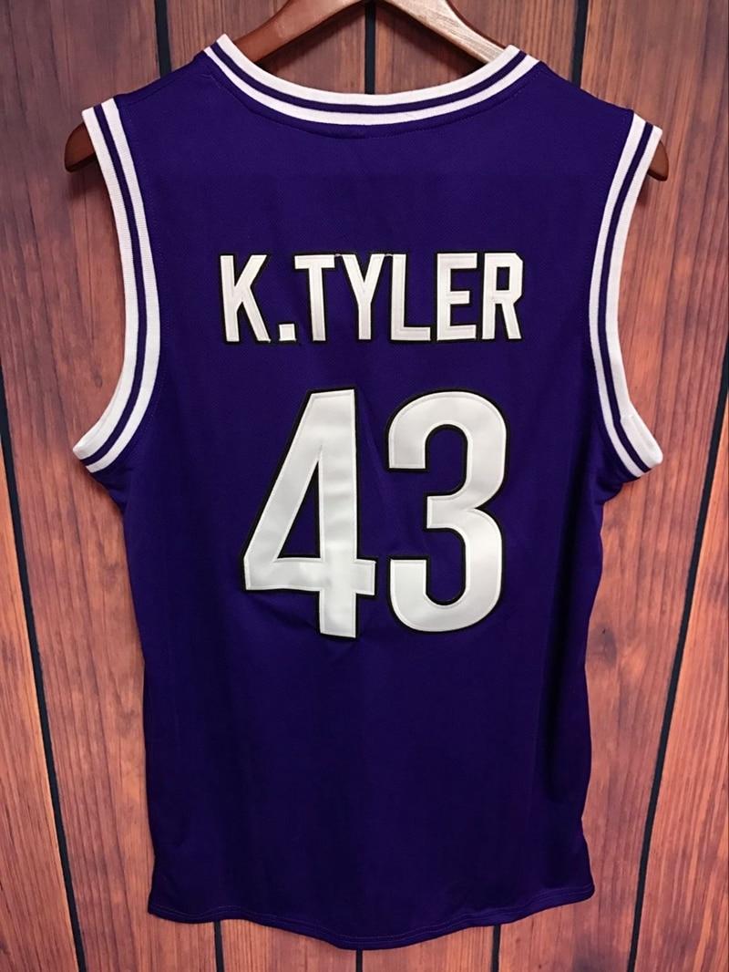 ff50c1ba141 EJ Kenny Tyler  43 De 6e Man Basketbal Jersey Marlon Wayans paars in EJ  Kenny Tyler  43 De 6e Man Basketbal Jersey Marlon Wayans paars van  Basketbal Jerseys ...