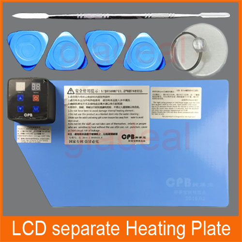 LCD Separator Machine Heating Silicone Plate Kit To Split Separate Digitzer Touch Screen For iPhone Samsung And iPad built in air vacuum pump ko semi automatic lcd separator machine for separating assembly split lcd ts ouch screen glas