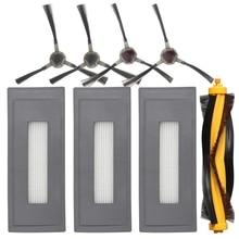 Сменный комплект аксессуаров, совместимый с Ecovacs Deebot Ozmo 930 Роботизированный пылесос, 1 основная щетка 3 Высокоэффективная Filt