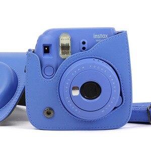 Image 5 - לשאת עור מפוצל תיק Case כיסוי עם כתף רצועת עבור Fujifilm Instax מיני 9 מיני 8 מיני 8 + מיידי סרט תמונה מצלמה