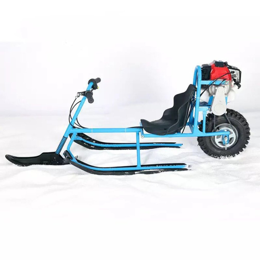 Hot Electric Skiing Vehicle Single Board Fuel Snowmobile Directional Snow Sledge Skiing Boards For Children Skiing Equipments
