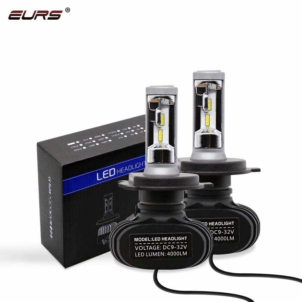EURS 2PCS H13 H8 H11 Lamp H4 Led H7 H1 H3 Car Headlight Bulbs S1 H27 881 HB3 HB4 Auto lamp Led Automotive 12V 50W 8000LM 6500K