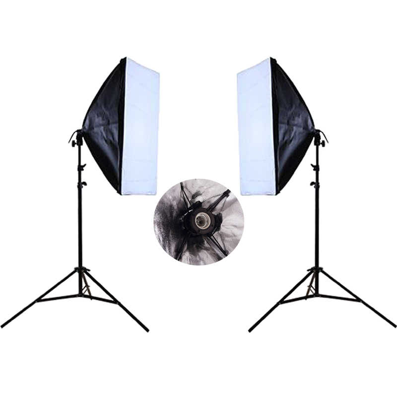 Photo Studio Kit Photography Lighting Continuous Lighting Soft box Kit 2PCS*Light stand+2PCS* Wired Softbox