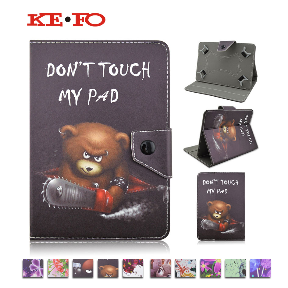 """For Lenovo IdeaTab A2107A Flip Folio Stand PU Leather Tablet Case For universal 7""""inch tablet pc+Screen protector"""