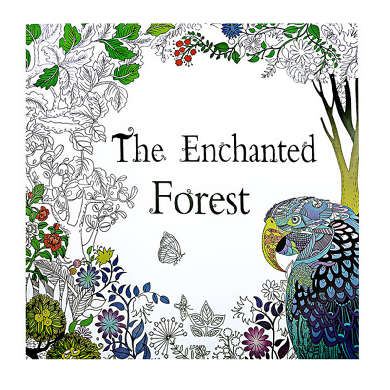 24 Pages The Enchanted Forest Antistress Adult Coloring Books For Adults Livre Cloriage Kids Art Book