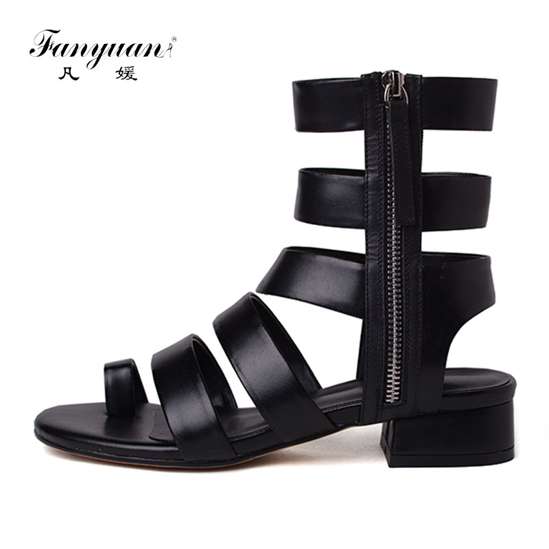 Fanyuan Gladiator Sandals Women Ankle/ Long Summer Boots espadrille Square Heels Cross Strap Summer Footwear Women Big Size 42 criss cross espadrille wedges