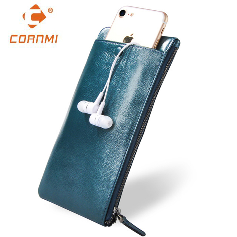 Men Women Wallets Genuine Leather Purse Bag Universal Carteira For iphone 7 7 Plus 5 SE 6 6S Plus Case For Samsung J5 S6 S7 Edge