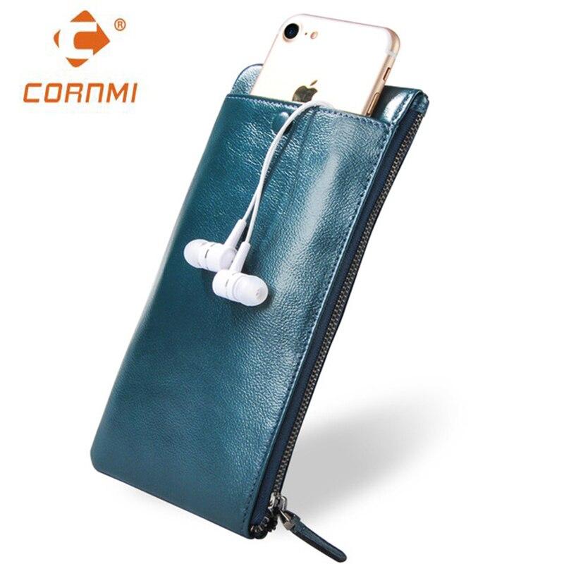 Men Women Wallets Genuine Leather Purse Bag Universal Carteira For iphone 7 7 Plus 5 SE 6 6S Plus Case For Samsung J5 S6 S7 Edge