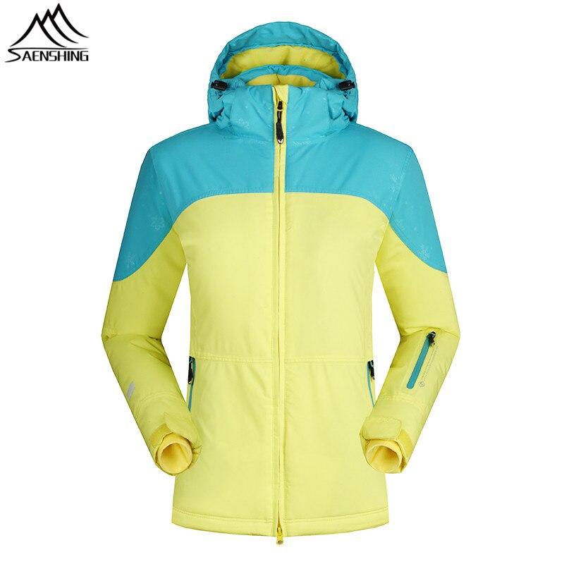 SAENSHING -30 Degree Winter Ski Jacket Women Snowboard Coats Waterproof Breathable Snow Jacket Girls Outdoor Skiing Clothing цена