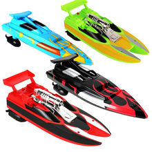Rc Boat Wireless Remote Control Waterproof Super Mini Electric High Speed Boat Ship Children Games Toys For Children New(China)