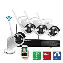 AKASO 4CH 960 P HD WIFI Système de Caméra de Sécurité Sans Fil Vidéo Surveillance CCTV IP Caméra Équipement avec 1280×960 P Nuit Vision