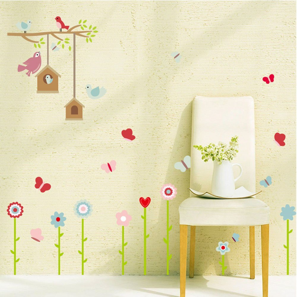Beautiful Birdcage Wall Art Stickers Pattern - Wall Art Collections ...