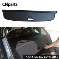 CNparts Car Rear Trunk Cargo Cover For Audi Q5 2010 2018 Car Styling Black Security Shield Shade Auto accessories