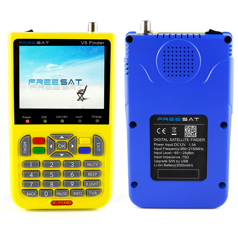 Freesat V8 Satellite Finder meter Digital 3.5 Inch LCD sat Signal Finder DVB-S2 MPEG-4 satFinder satlink Support HDMI Out sf 9505a 2 3 digital satellite signal finder meter w compass black