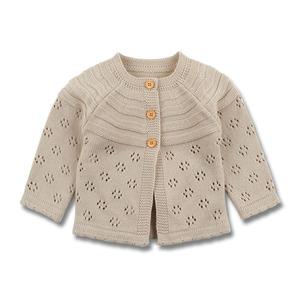 Image 1 - Baby Girls Cardigan Toddler Sweater Infant Coat Hollow Out Fashion Cute Infant Girls Knitted Jacket RT197