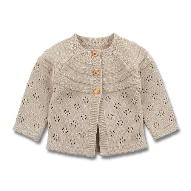 Baby Girls Cardigan Toddler Sweater Infant Coat Hollow Out Fashion Cute Infant Girls Knitted Jacket RT197
