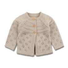 Meninas do bebê Cardigan Criança Camisola Infantil Brasão Oco Out Moda Infantil Bonito Meninas Casaco De Malha RT197
