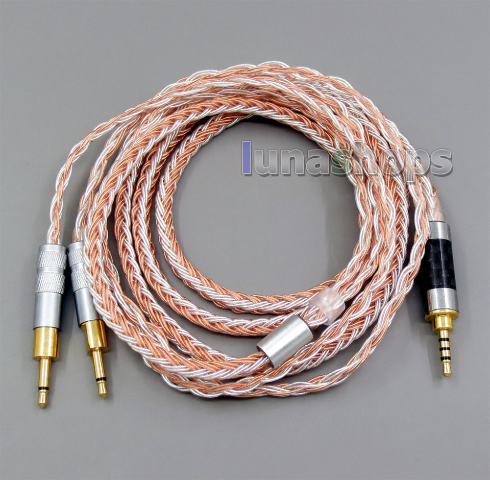2.5mm 4pole TRRS Balanced 16 Core OCC Silver Mixed Headphone Cable For Sennheiser HD700 LN005788 800 wires soft silver occ alloy teflo aft earphone cable for sennheiser hd700 headphone ln005404