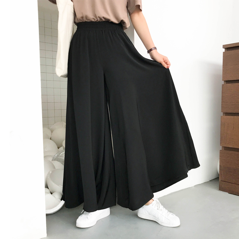 Women's   Wide     Leg     Pants   Loose Comfortable High Waist Casual Elastic Waist Ladies   Wide     Leg   Trousers New 2019 Summer