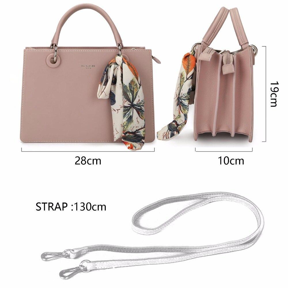 DAVIDJONES 女性のハンドバッグフェイクレザー女性のメッセンジャーバッグ大女性 scarve トートバッグの女の子ブランドショルダーバッグドロップシッピング  グループ上の スーツケース & バッグ からの トップハンドルバッグ の中 2