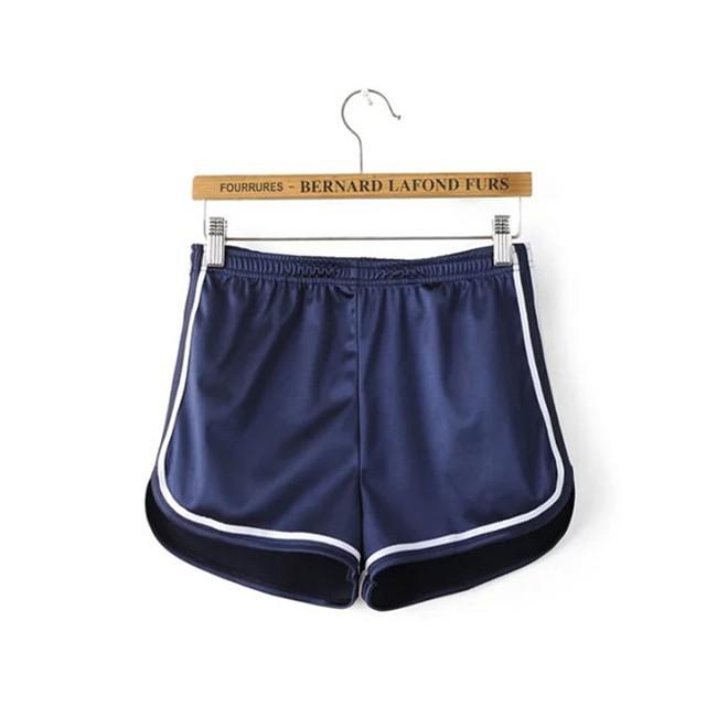 HTB1S2o5MVXXXXX4XpXXq6xXFXXXE - Glossy Shorts Slim Sexy Short Cotton Elastic High Waist Shorts For Women PTC 181