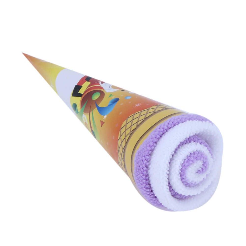 لون عشوائي مزدوج اللون غسل منشفة هدايا الزفاف الآيس كريم على شكل هدية لحفلات عيد الميلاد استحمام الطفل لوازم